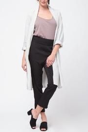 Movint Shawl Collar Linen Coat - Back cropped