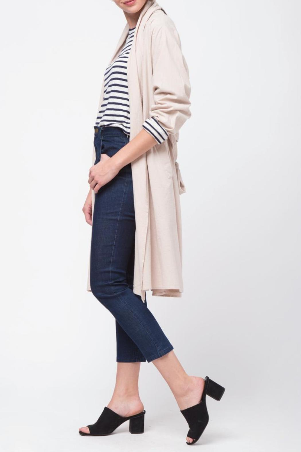 Movint Shawl Collar Trench Coat - Side Cropped Image