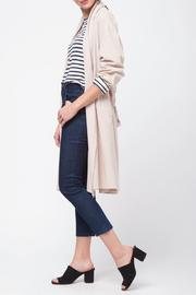 Movint Shawl Collar Trench Coat - Side cropped