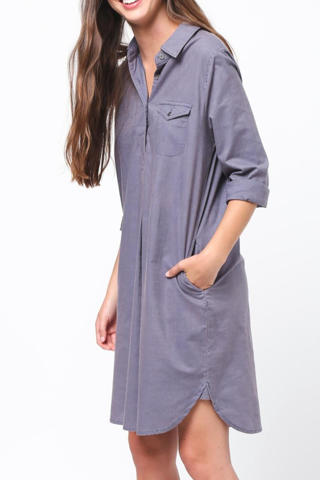 Movint Shirt Dress - Front Full Image