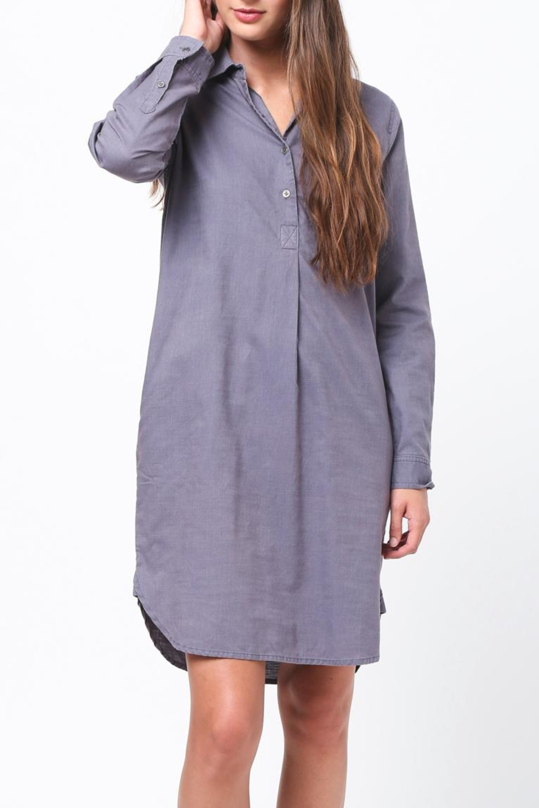 Movint Shirt Dress - Back Cropped Image