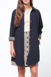 Movint Shirt Collar Cardigan - Front cropped
