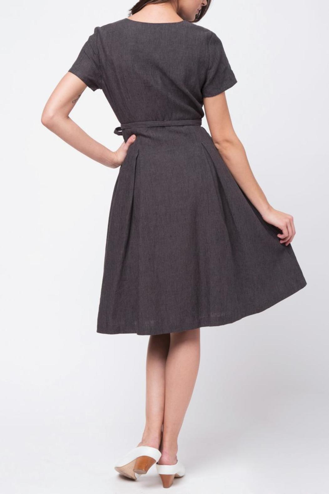 Movint Short Sleeve Wrap Dress - Side Cropped Image