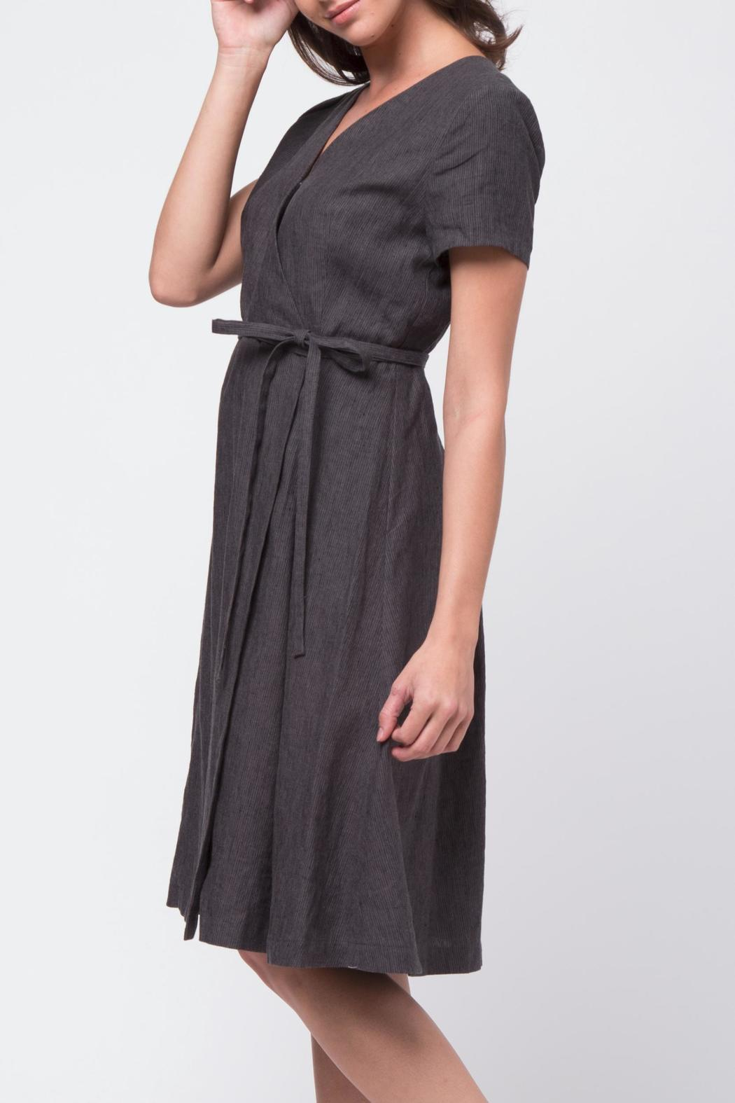 Movint Short Sleeve Wrap Dress - Front Full Image