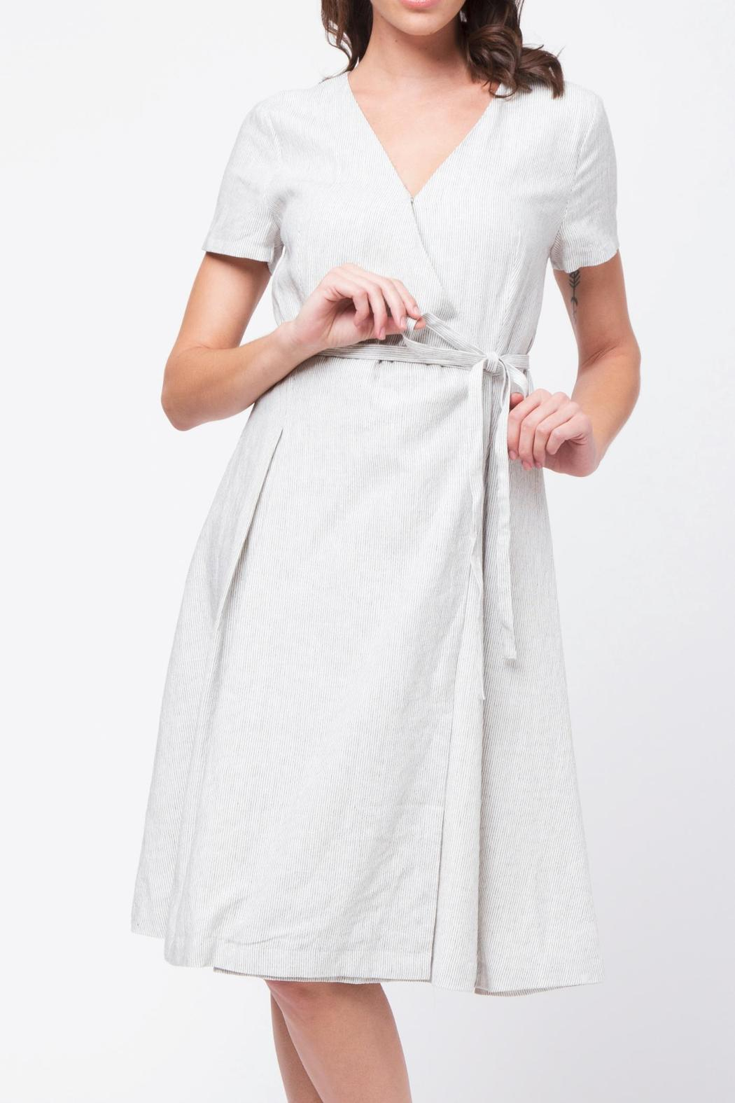 Movint Short Sleeve Wrap Dress - Main Image