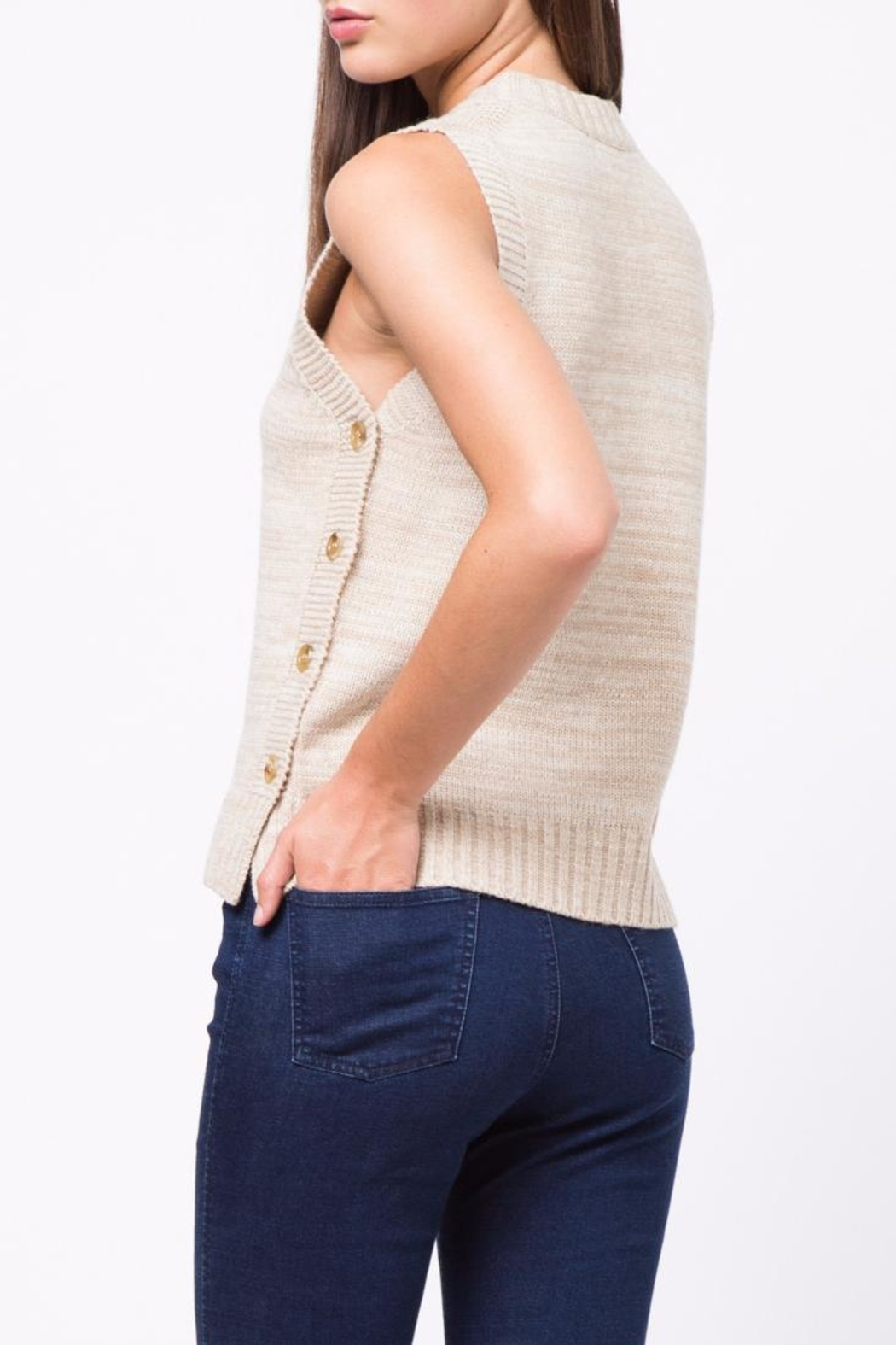 Movint Side Button Down Sweater - Front Full Image