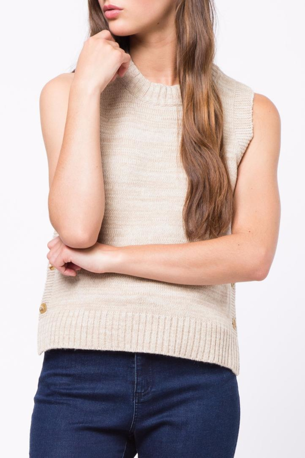 Movint Side Button Down Sweater - Main Image