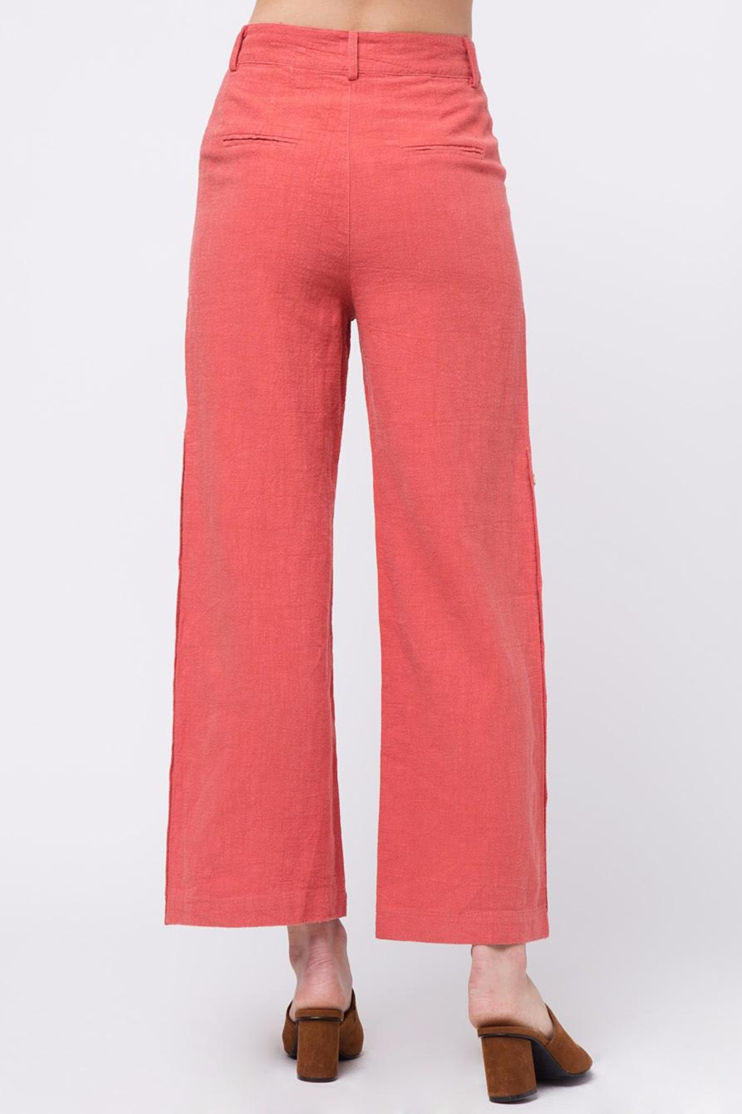 Movint Button Up Wide Pants - Front Full Image