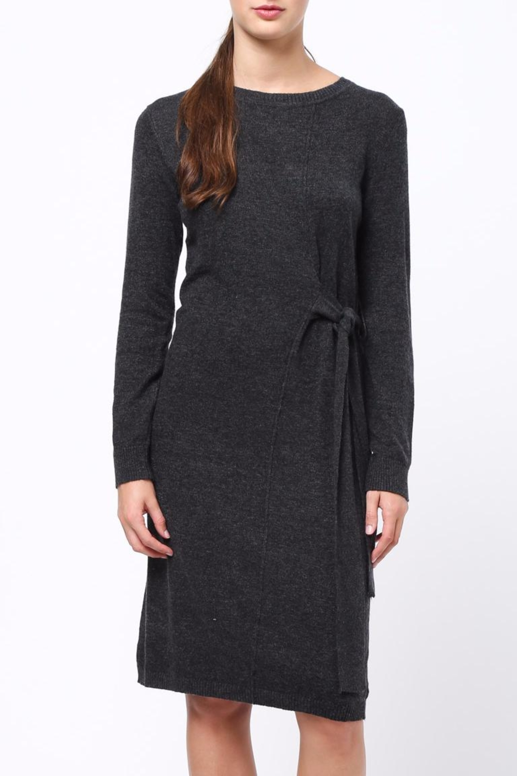 Movint Side Tie Waist Dress - Front Cropped Image