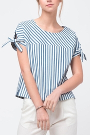 Movint Sleeve Tie Detailed Top - Front cropped
