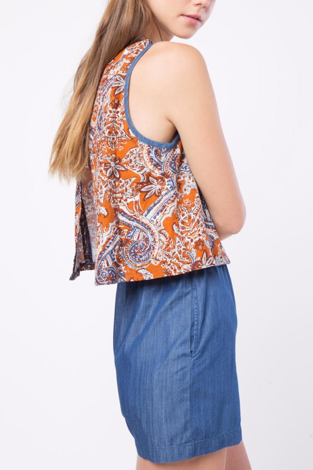Movint Printed Sleeveless Romper - Side Cropped Image