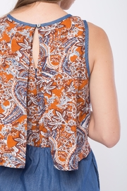 Movint Printed Sleeveless Romper - Back cropped