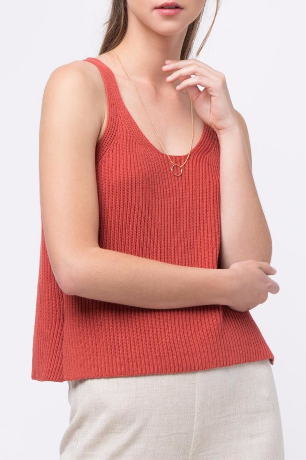 Movint Sleeveless Sweater Top - Front Cropped Image