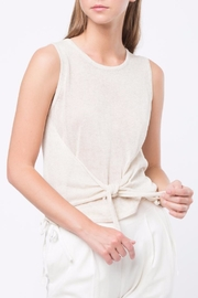 Movint Tie Front Sweater Tank - Product Mini Image