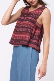 Movint Sleeveless Crochet Detail Top - Side cropped