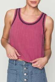 Movint Tank With Embroidery Detail - Product Mini Image