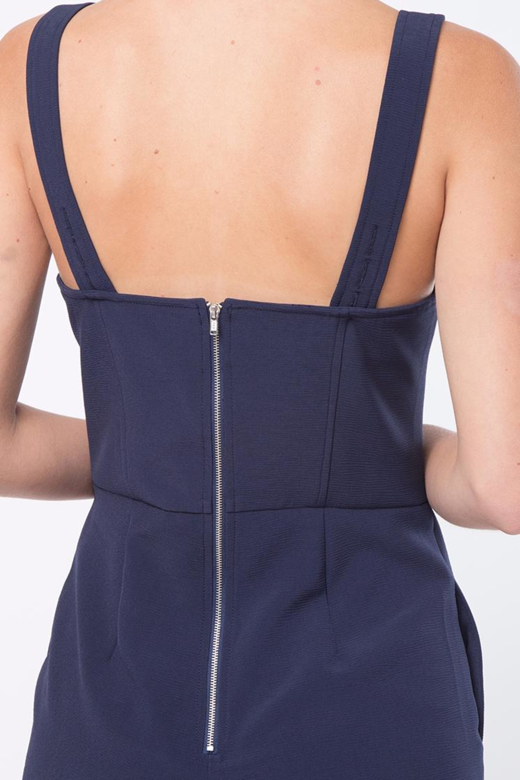 Movint Strap Button Detailed Jumpsuit - Back Cropped Image