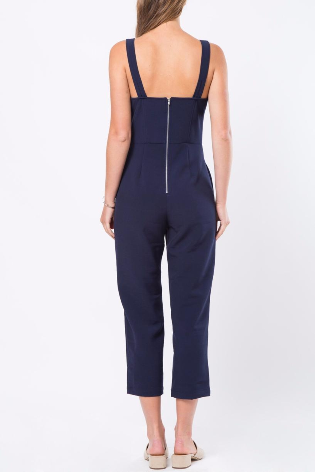 Movint Strap Button Detailed Jumpsuit - Front Full Image