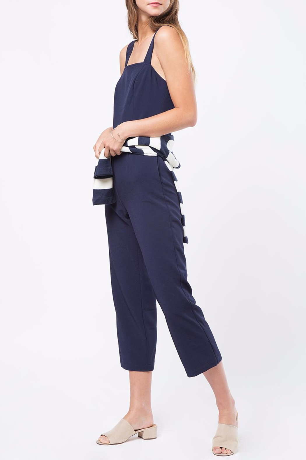 Movint Strap Button Detailed Jumpsuit - Side Cropped Image