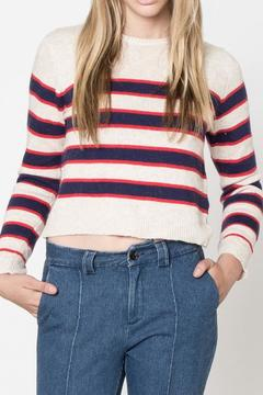 Movint Stripe Crop Sweater - Product List Image
