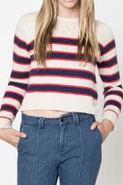 Movint Stripe Crop Sweater - Product Mini Image