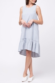 Movint Stripe Sleeveless Ruffle Dress - Product Mini Image