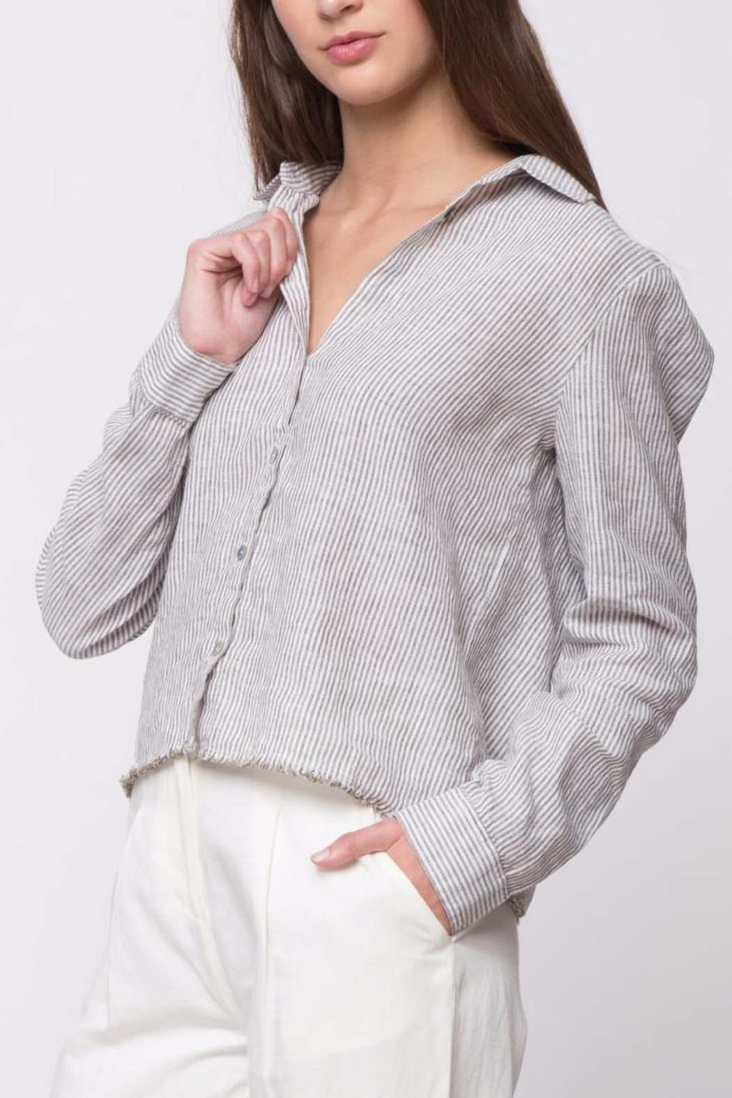 Movint Striped Long Sleeve Shirt - Front Cropped Image