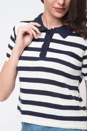 Movint Striped Crop Polo - Back cropped