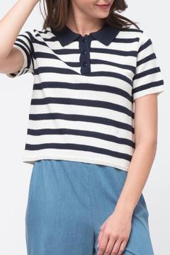 Shoptiques Product: Striped Crop Polo