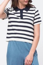 Movint Striped Crop Polo - Front cropped