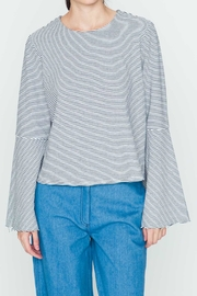 Movint Striped Flowy-Sleeve Top - Front cropped