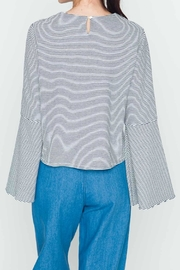 Movint Striped Flowy-Sleeve Top - Side cropped