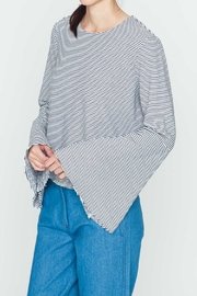 Movint Striped Flowy-Sleeve Top - Front full body