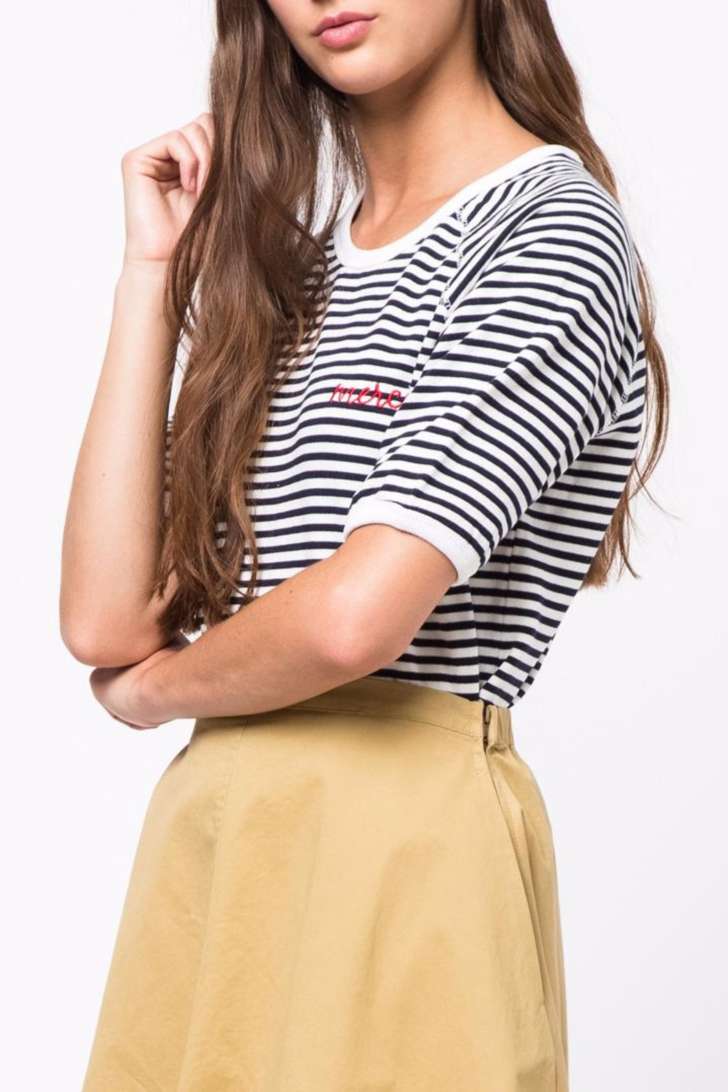 Movint Striped Half Sleeve Shirt - Side Cropped Image