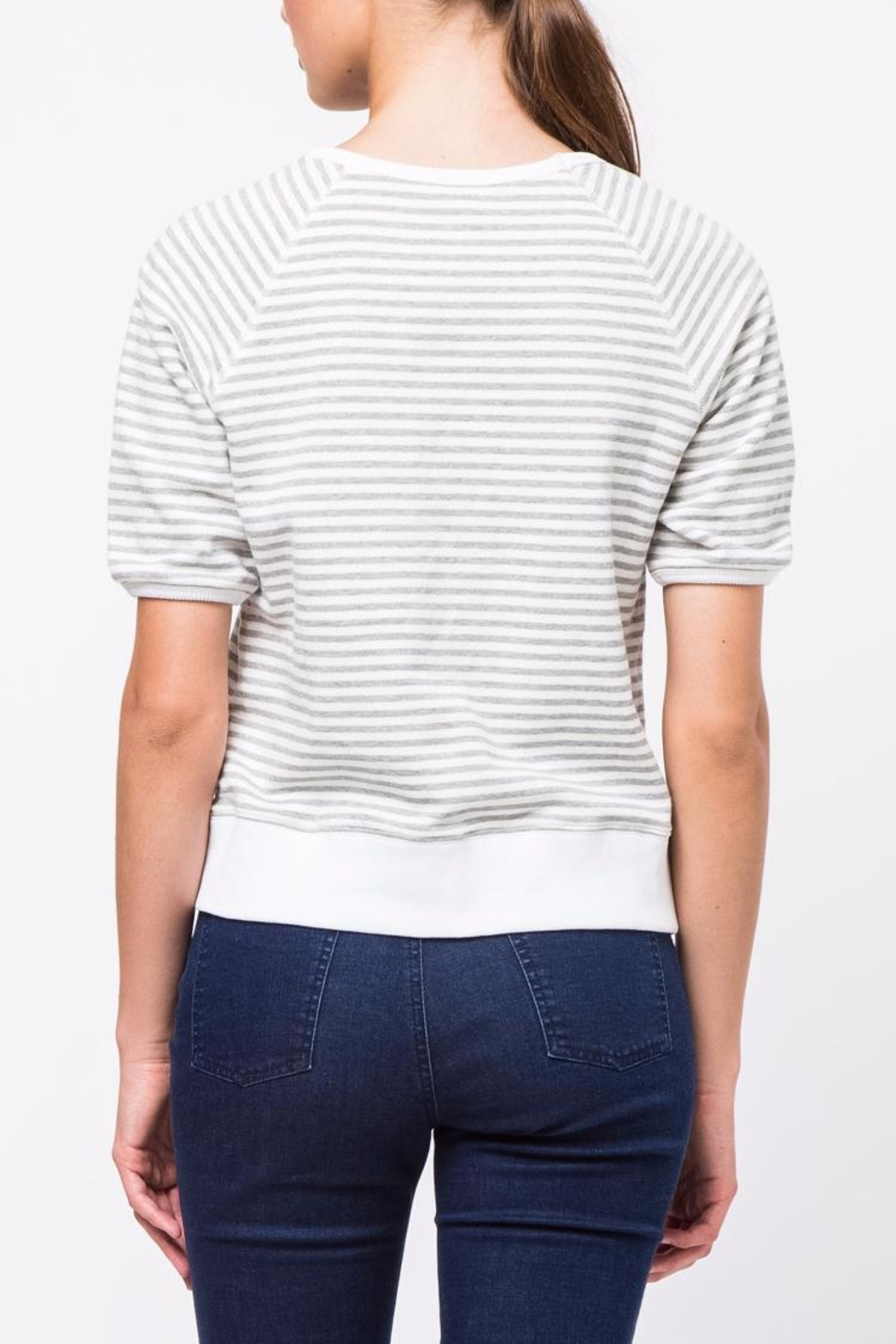 Movint Striped Half Sleeve Shirt - Front Full Image