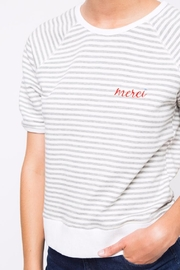 Movint Striped Half Sleeve Shirt - Back cropped