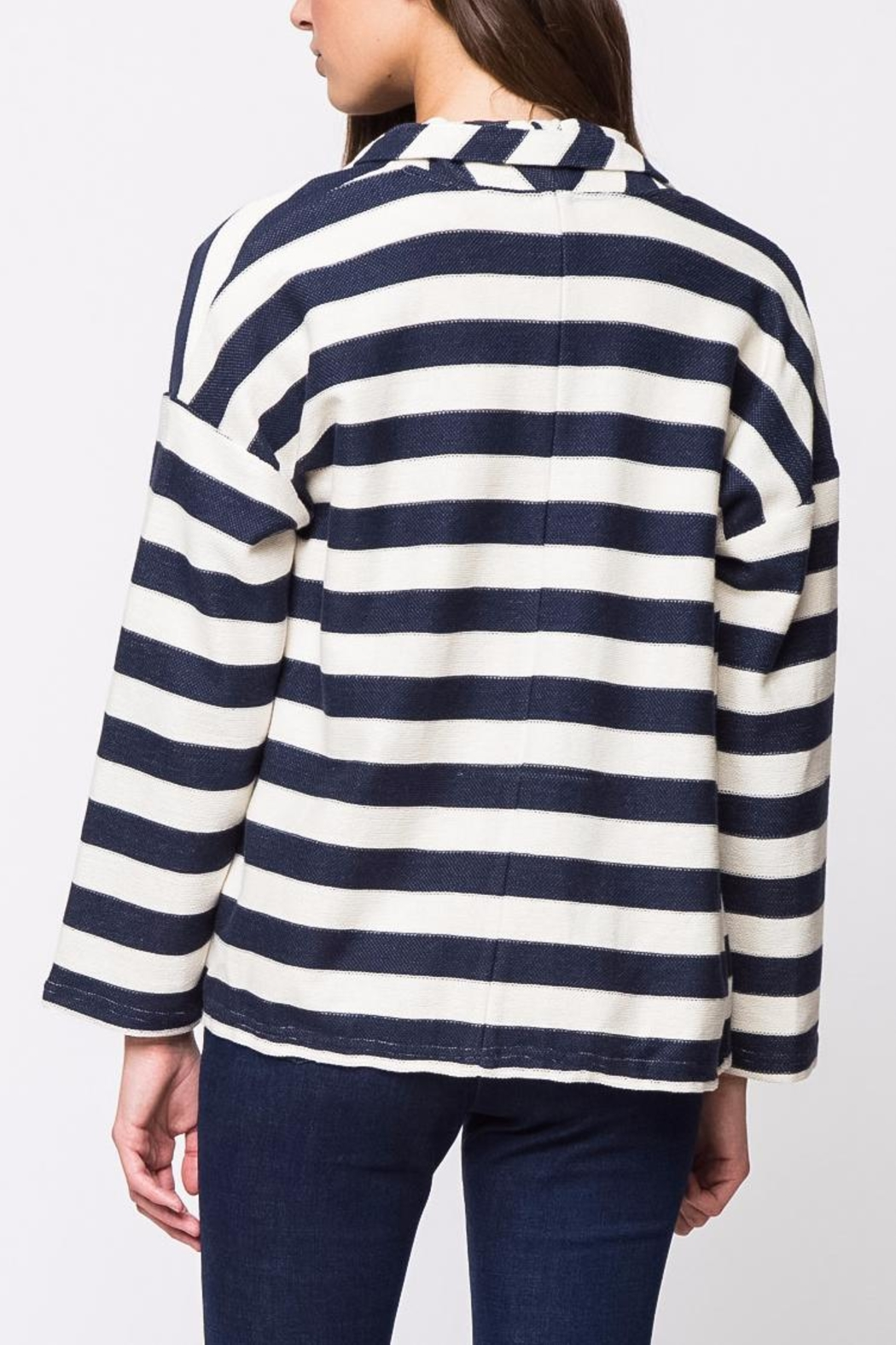 Movint Striped Jersey Jacket - Front Full Image