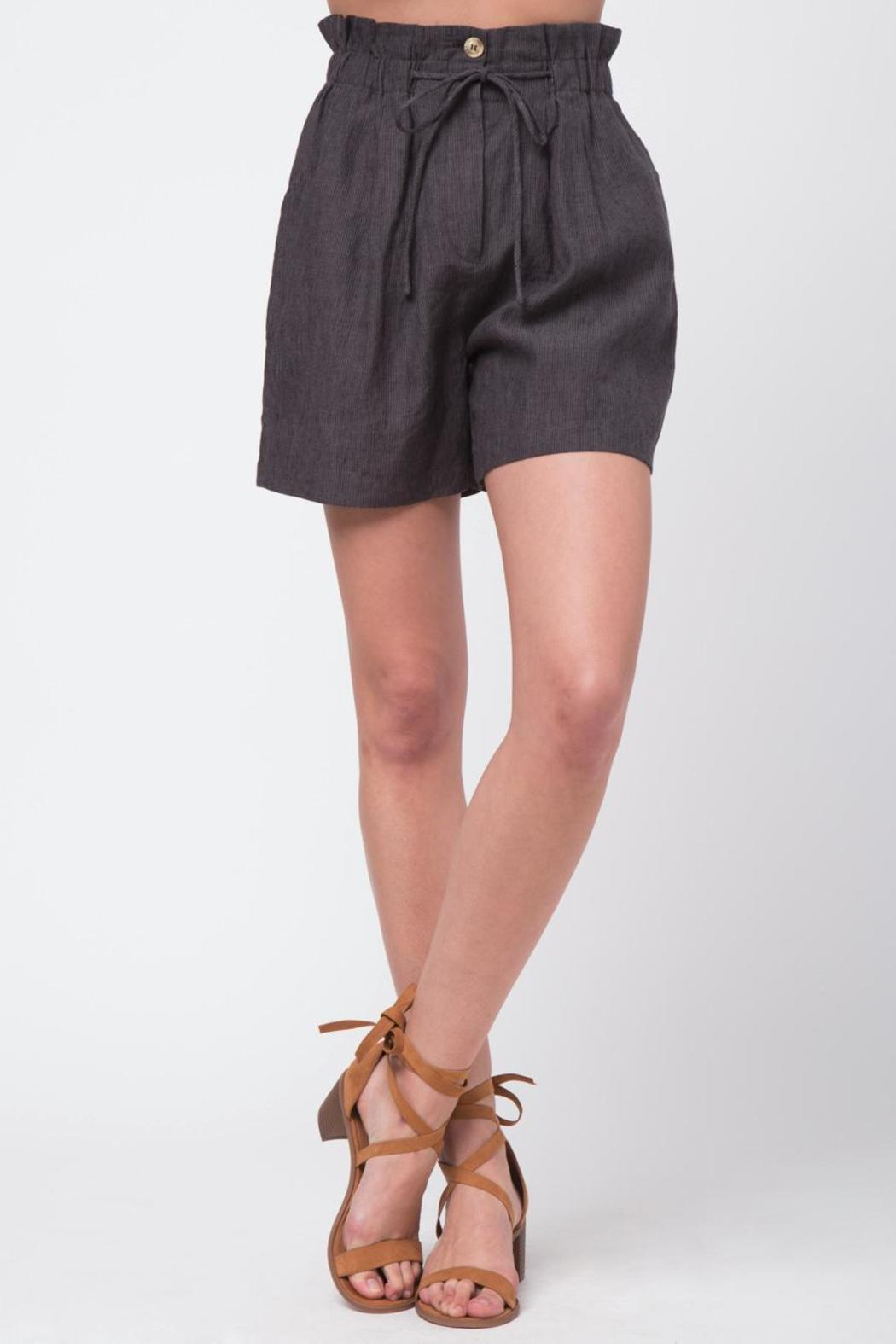 Movint Striped Shorts With Belt - Front Cropped Image