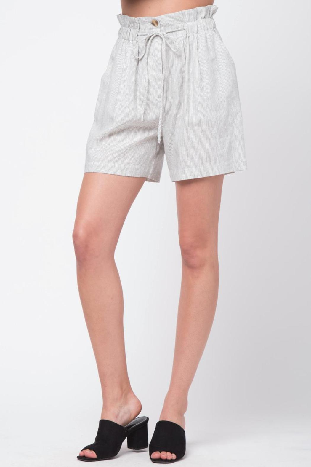 Movint Striped Shorts With Belt - Main Image