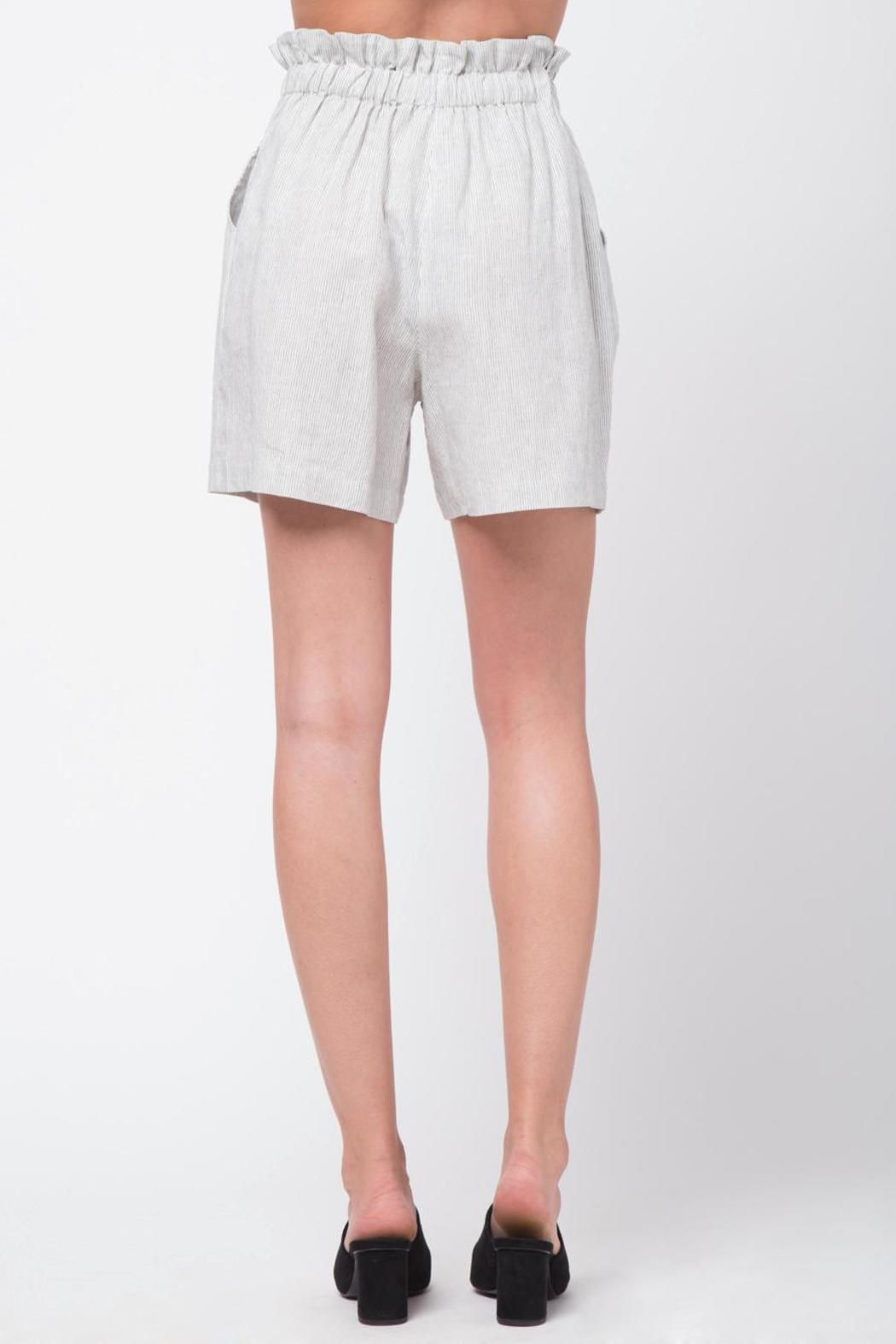 Movint Striped Shorts With Belt - Side Cropped Image