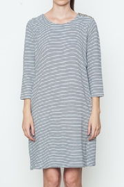 Movint Striped Shirt Dress - Front cropped