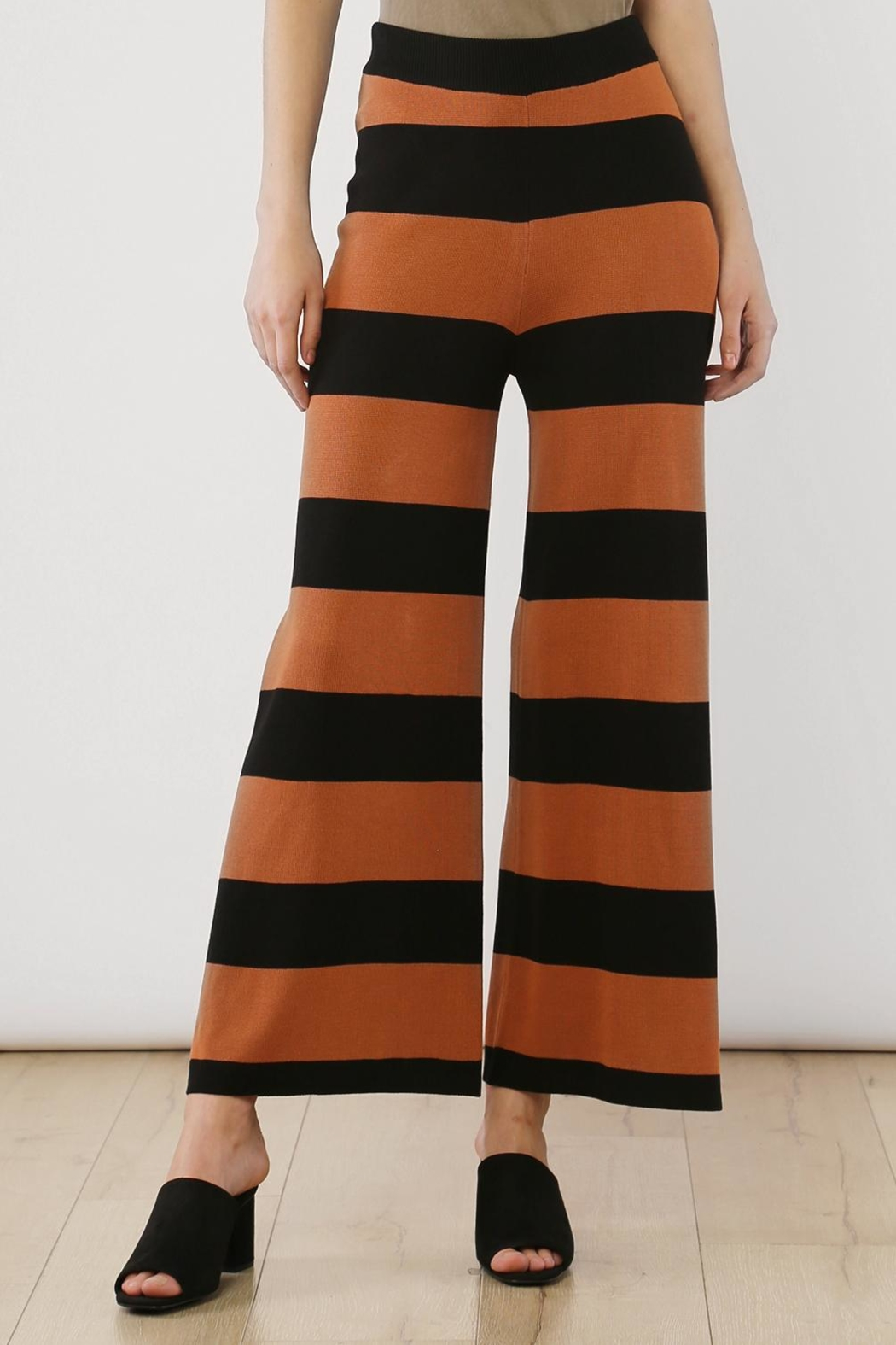 Movint Striped Wide Leg Pants - Main Image
