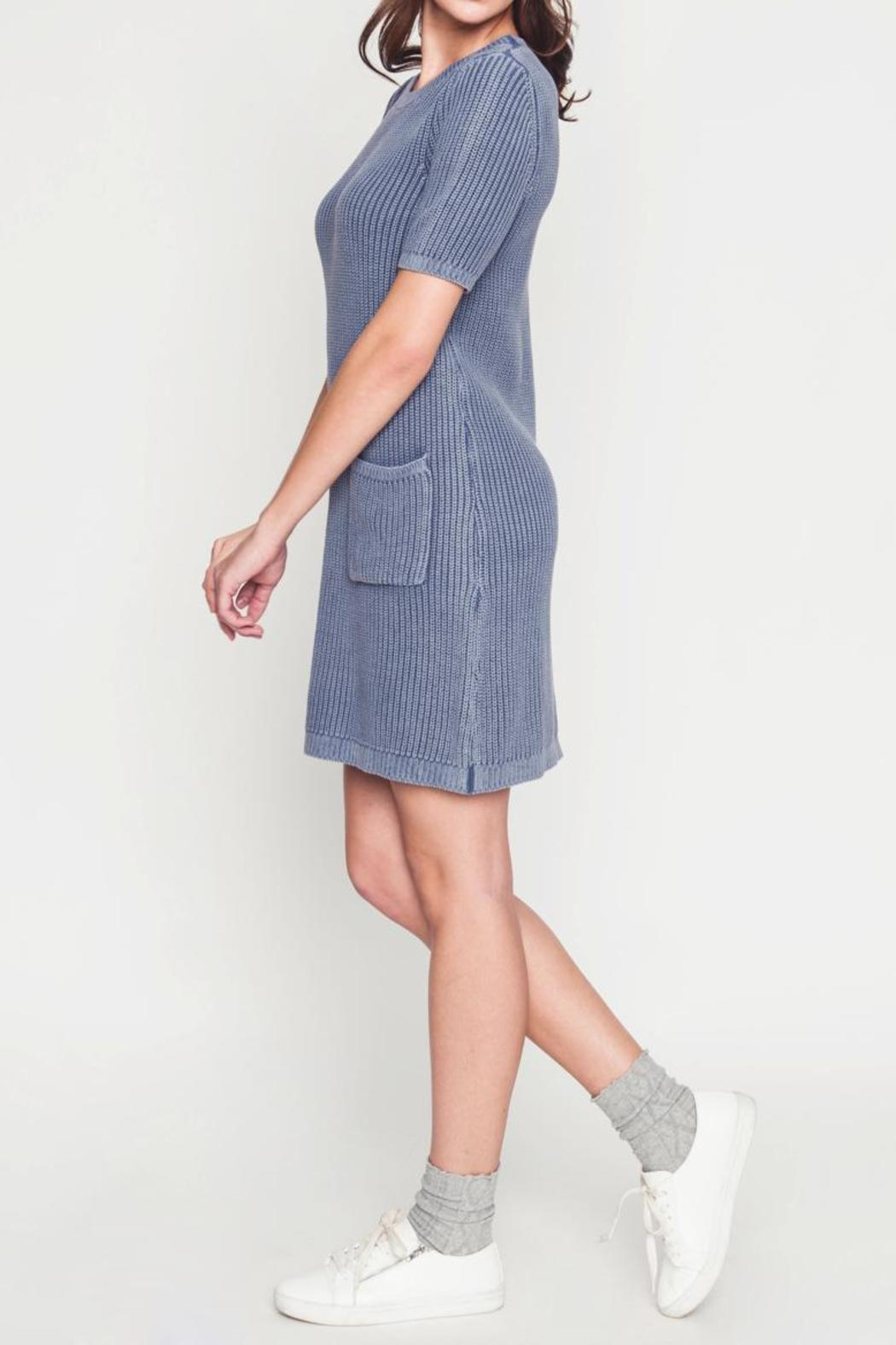 Movint Sweater Dress With Wash Effect - Back Cropped Image