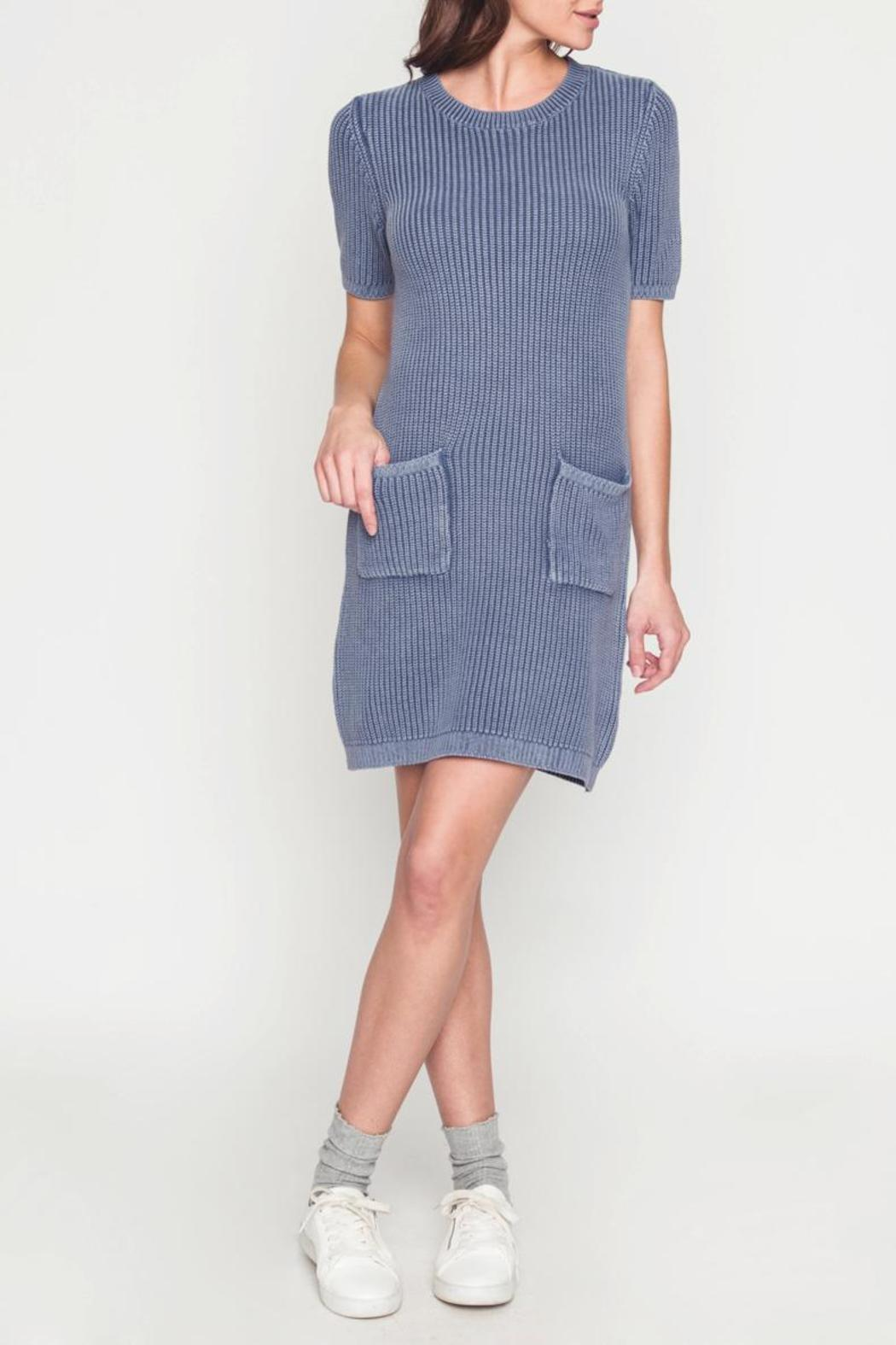 Movint Sweater Dress With Wash Effect - Front Full Image