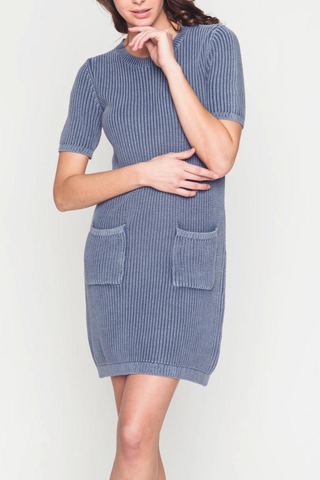 Movint Sweater Dress With Wash Effect - Main Image