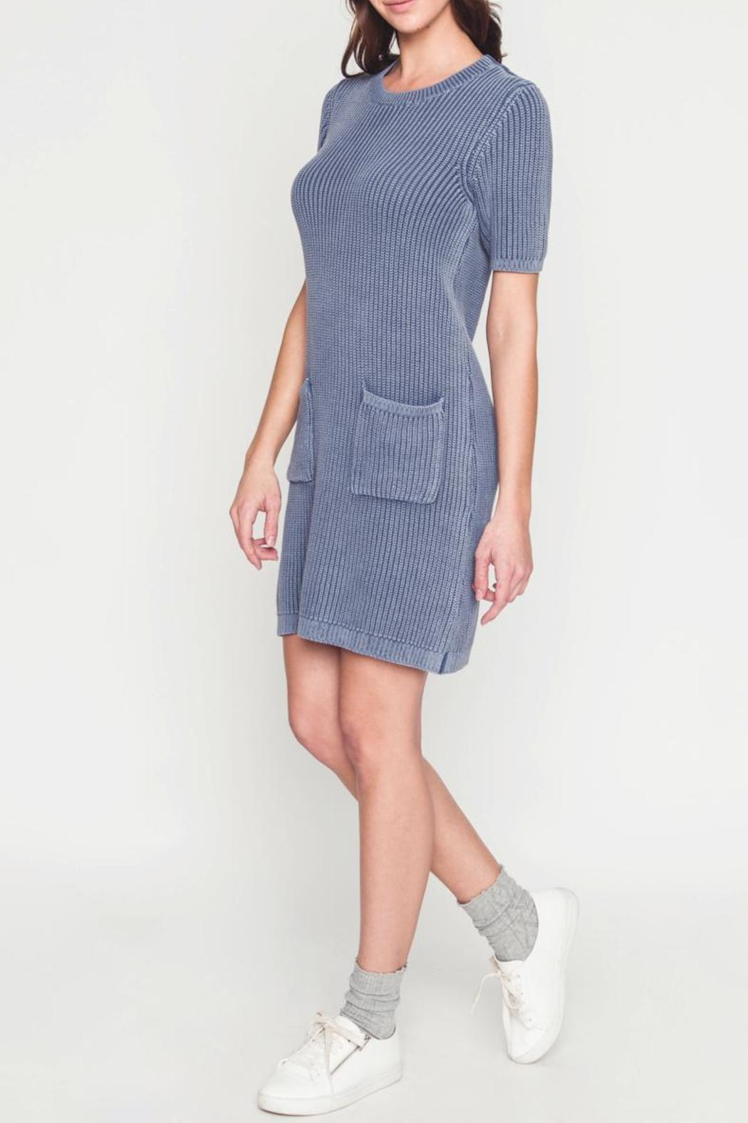 Movint Sweater Dress With Wash Effect - Side Cropped Image