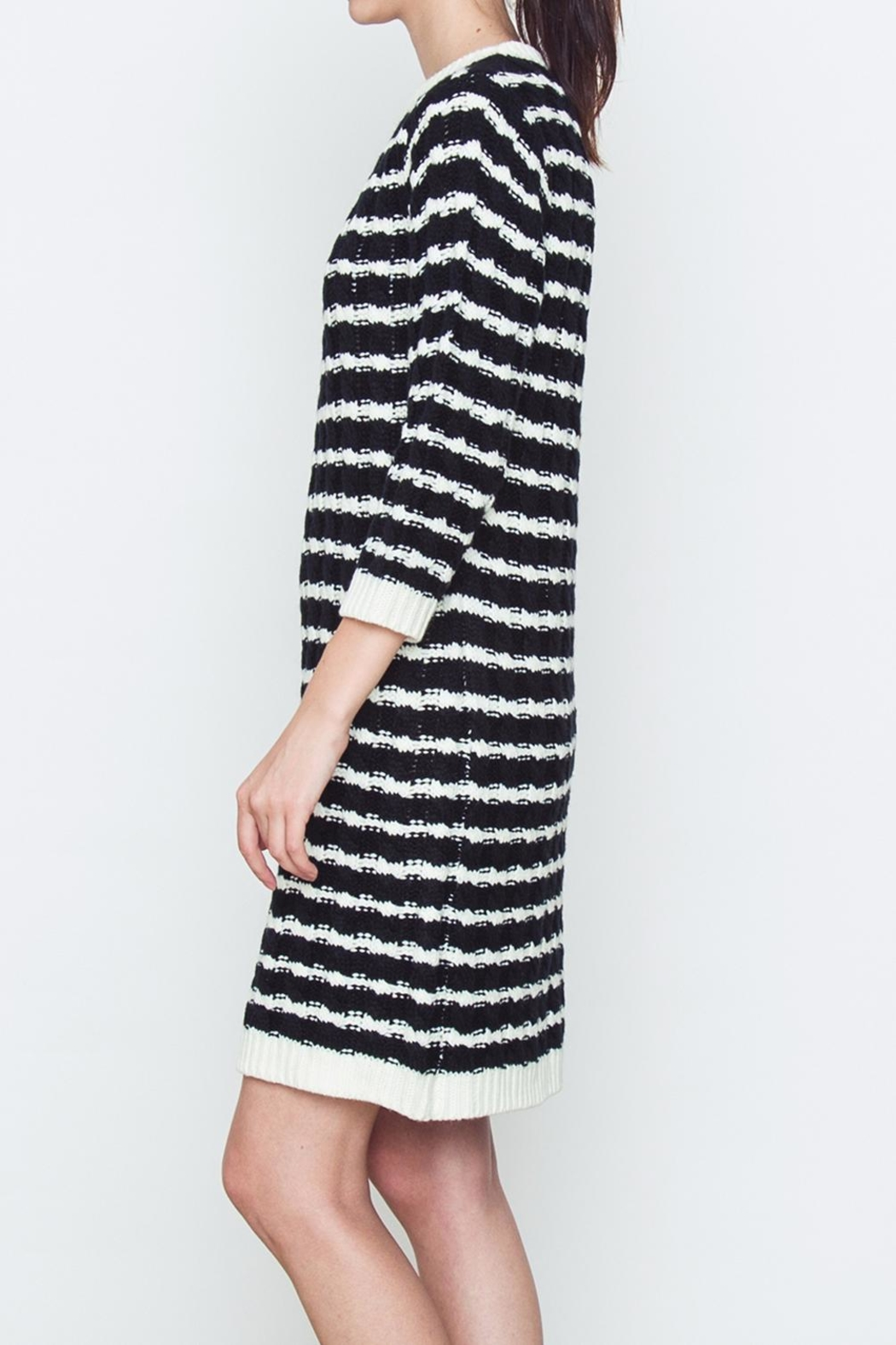 Movint Sweater Striped Dress - Front Full Image