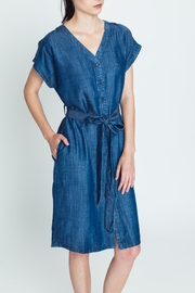 Movint Tencel Buttoned Dress - Product Mini Image