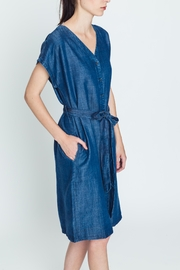 Movint Tencel Buttoned Dress - Side cropped