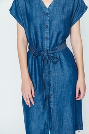 Movint Tencel Buttoned Dress - Back cropped
